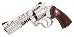 """Colt Mfg-PYTHONSP4WTS Python 357 Mag 6 Round 4.25"""" Stainless Steel Walnut Target Grip"""