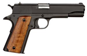 Rock Island -51615 GI Standard FS Single 9mm Luger 5 10+1 Wood Grip Black Parkerized