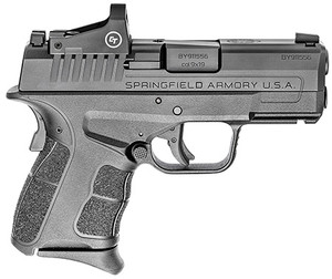 "Springfield Armory XDSG9339BCT XD-S Mod 2 OSP 9mm Luger 3.30"" 9+1,7+1 Black Melonite Steel Slide Black Polymer Grip with CT Red Dot"