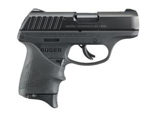 Ruger -13211 EC9s Compact 9mm Luger 3.50 7+1 Black Oxide Steel Black Hogue Beavertail Grip Sleeve Grip