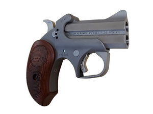 """Bond Arms - Grizzly, 45/410, 3"""" Barrel, Fixed Sights, Ext Rosewood Grips, Rough Series Leather Holster"""