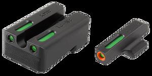 Truglo- TG13KM1PC Brite-Site TFX Pro Day/Night Sights Kimber Tritium/Fiber Optic Green  w/Orange Outline Front U-Notch Green Rear Black