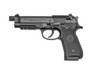 Beretta USA -J9A9F102 92A1  9mm Luger 4.90 TB 17+1 Black Bruniton Steel Slide Black Checkered Polymer Grip