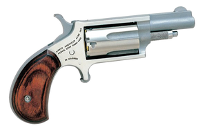 NAA 22MC- Mini-Revolver  Single 22 LR/22 Mag 1.63 5 Rd Rosewood Grip Stainless Steel