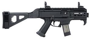 CZ 91345- Scorpion EVO 3 S2 Micro 9mm Luger 4.12 20+1 Black Black Polymer Grip SB Tactical Folding Brace