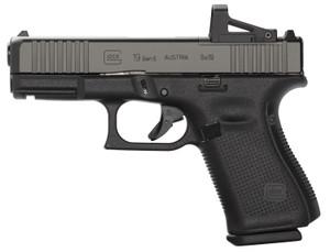 Glock PA195S201MOS- G19 Gen 5 MOS FS 9mm Luger Double 4.02 10+1 Black Polymer Frame Black nDLC Slide