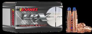 Barnes Bullets- 30228 LRX  6.5mm .264 127 GR LRX Boat Tail 50 Box
