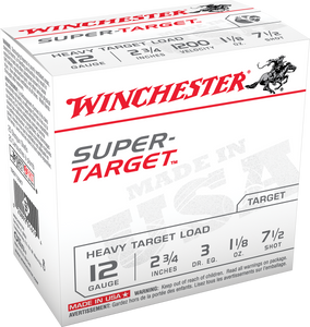 Winchester Ammo -TRGT12M7 Super Target Heavy 12 Gauge 2.75 1 1/8 oz 7.5 Shot 25 rounds