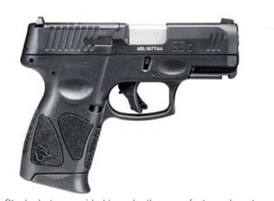 "NEW   Taurus 1-G3CP931 G3C 9mm Luger 3.20"" 12+1 (3) Black Matte Black Tenifer Steel w/T.O.R.O Cuts Slide Black Polymer Grip"