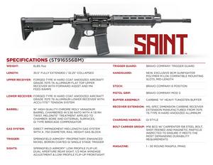 Springfield Armory -ST916556BM Saint  5.56x45mm NATO 16 30+1 Black Hard Coat Anodized Bravo Company 6-Position Stock
