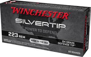 Winchester Ammo W223ST -Silvertip 223 Rem 64 gr Defense Tip 20 rounds