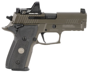 "Sig Sauer E29R9LEGIONSAORXP P229 Compact Legion RXP 9mm Luger 3.90"" 15+1 Legion Gray Cerakote Elite Legion Gray Cerakote Stainless Steel Slide Black G10 Grip"