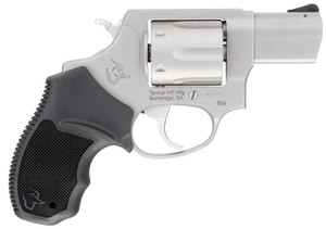 """Taurus 2--85629 856 *CA Compliant 38 Special +P 6rd 2"""" Matte Stainless Steel Black Rubber Grip"""