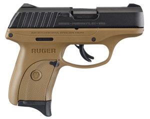 "Ruger 3297 EC9s 9mm Luger 3.12"" 7+1 -Flat Dark Earth Black Oxide Steel Slide Flat Dark Earth Polymer Grip"