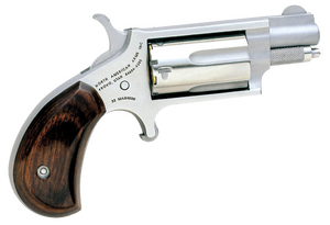 NAA 22MS Mini-Revolver *CA Compliant* -Single 22 Mag 1.13 5 Rd Rosewood Bird's Head Grip Stainless Steel