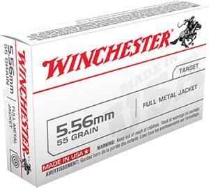 Winchester Ammo WM193K USA 5.56x45mm NATO 55 gr Full Metal Jacket (FMJ) 20 rounds