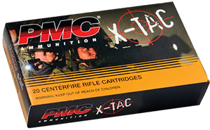 PMC 556K X-Tac  223 -Rem/5.56 -NATO 62 GR Light Armor Piercing (LAP) 20 rounds