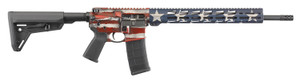 "Ruger 8538 AR-556 MPR 5.56x45mm NATO 18"" 30+1  American Flag Cerakote Adj Magpul MOE SL Stock"