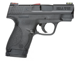 Smith & Wesson  11905 M&P 9 Shield *CA Compliant with HiViz Sights 9mm Luger Double 3.10 7+1/8+1 Black Polymer Grip Black Armornite Stainless Steel Slide