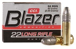 CCI 0021 Blazer High Velocity  22 Long Rifle (LR) 40 GR Lead Round Nose 50 rounds