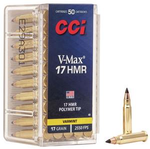 CCI  0049 Varmint  17 HMR 17 GR V-Max Polymer Tip 50 rounds