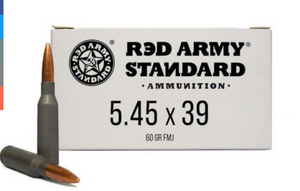 Red Army Standard AM3372  Red Army Standard 5.45x39mm 60 gr Full Metal Jacket (FMJ) 20 rounds