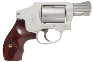 Smith & Wesson  163808 642 Ladysmith 38 Special 1.88 5 Round Stainless Steel Wood Grip