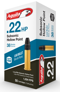 Aguila 1B222268 Standard   22 LR 40 GR SubSonic Hollow Point 50 rounds