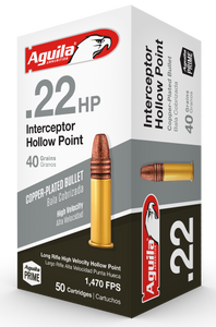 Aguila 1B222321  Special Interceptor 22 LR 40 GR Hollow Point (HP) 50  rounds