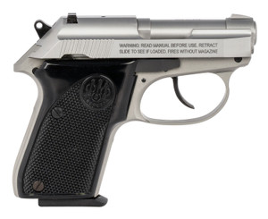 "Beretta USA J320500CA 3032 Tomcat 32 ACP 2.40"" 7+1 Stainless Steel Slide Black Polymer Grip"