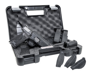 Smith & Wesson 11766 M&P  40 M2.0 Carry and Range Kit 40 S&W Double 4.25 15+1 Black Interchangeable Backstrap Grip Black Armornite Stainless Steel Slide