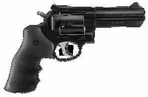Ruger 1702 GP100  Standard 357 Mag 4.20 6 Round Black Hogue Monogrip  Blued