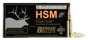 HSM 65CRD130VLD  Trophy Gold 6.5 Creedmoor 130 gr Match Hunting Very Low Drag 20 rounds