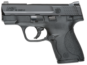 Smith & Wesson 187020 M&P 40 Shield *CA Compliant 40 S&W Double 3.10 6+1/7+1 Black Polymer Grip/Frame Grip Black Armornite Stainless Steel Slide*