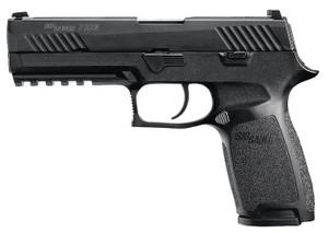 Sig Sauer 320F9B10  P320 Full Size 9mm Luger Double 4.70 10+1 Black Polymer Grip Black Stainless Steel Frame Black Nitron Stainless Steel Slide