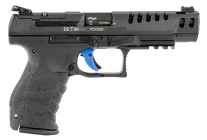 """Walther Arms 2846977 PPQ Classic Q5 Match 9mm Luger 5"""" 15+1 Black Black  Ported Steel Slide Black Interchangeable Backstrap Grip"""