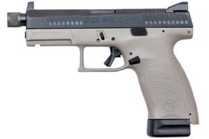 "CZ 01534 P-10 C SR 9mm Luger 4.61"" 10+1 Urban Gray Black Steel Slide Stippled Urban Gray Polymer Grip Reversible Mag Release Night Sights"