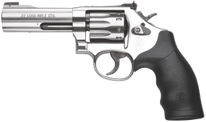 """Smith & Wesson 160584 617 22 LR 10rd 4"""" Stainless Satin Stainless Black Polymer Grip CA COMPLIANT"""