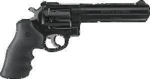 Ruger 1704 GP100  Standard 357 Mag 6 6 Round Black Hogue Monogrip  Blued