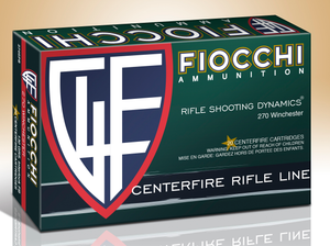 Fiocchi 270SPB  Shooting Dynamics  270  Winchester 130 GR Pointed Soft Point (PSP) 20 rounds