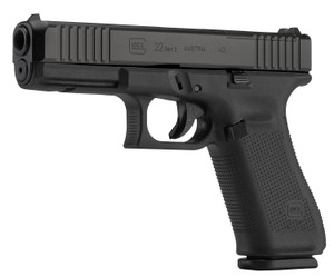 "Glock PA225S201MOS G22 Gen5 MOS 40 S&W  4.49"" 10+1 Black Black nDLC Steel with Front Serrations & MOS Cuts Slide Black Rough Texture Interchangeable Backstraps Grip"