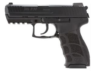 """HK 81000110 P30 V3 9mm Luger 3.85""""  10+1 (3) Black Black Steel Slide Black Interchangeable Backstrap Grip"""