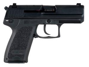 "HK 81000344 USP Compact V1 SA/DA 45 ACP 3.78"" 8+1 (3) Black  Black Steel Slide Black Polymer Grip Night Sights Decocker Safety"