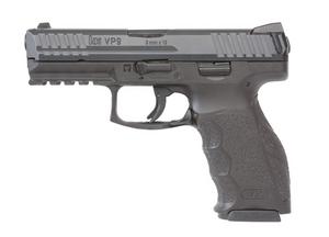 """HK 81000223 VP9 9mm Luger 4.09"""" 10+1 (2) Black Steel Slide Black Interchangeable Backstrap Grip"""