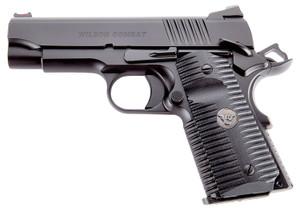 "Wilson Combat ACPCP45 ACP Compact SAO 45 ACP 4"" 7+1 Black Armor-Tuff Carbon Steel Black G10 Eagle Claw Grip"