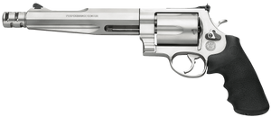 """Smith & Wesson 170299  Performance Center 500 500 S&W 5rd 7.50"""" Stainless Matte Silver Stainless Steel Black Polymer Grip"""