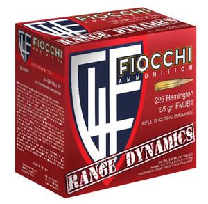 Fiocchi 223ARD10 Range Dynamics 223 Rem/5.56NATO 55 GR Full Metal Jacket Boat Tail (FMJBT) 1,000 rounds total