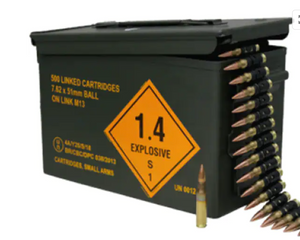 Magtech 762ALINKED Rifle 7.62x51mm NATO 147 gr Full Metal Jacket (FMJ) 500 rounds