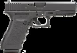 Glock PF2050201 G20  Short Frame 10mm Auto Double 4.60 10+1 Black Polymer Grip/Frame Black Slide