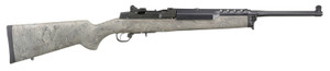 """Ruger 5877 Mini-14  Tactical 5.56x45mm NATO 5+1 18.50"""" Ghillie Green Fixed Hogue OverMolded Stock Right Hand"""